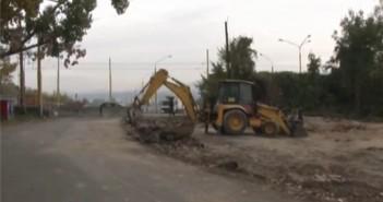 Stavba cesty na Kuzmanyho v Presove